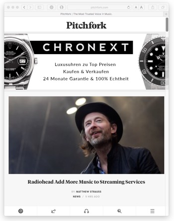 Gut für Thronext, schlecht für Pitchfork