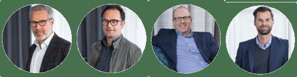MRM Worldwide Verantwortliche v. l. n. r. Ruber Iglesias, Sebastian Hardieck, Sean Condon, Martin Biela