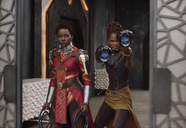 Nakita und Shuri (Letitia Wright), T'Challa's Halbschwester.