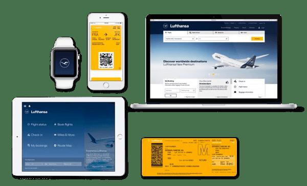 Lufthansa Gelb ist den passagierorientierten Informationen vorbehalten.