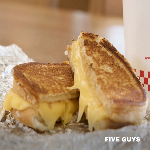 Five Guys' grilled cheese Sandwich.