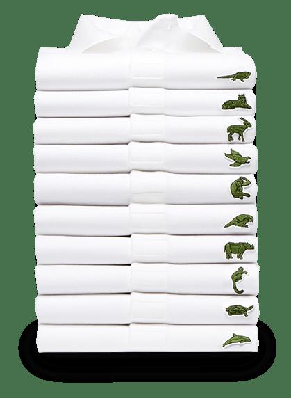 Lacoste Polo-Shirts mit den 10 gefährdetsten Arten.