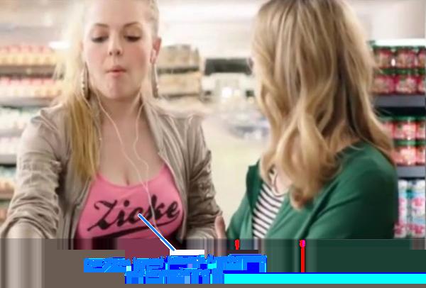 Wenig zimperliches Mädchen in Edeka Werbung