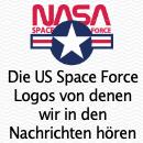 Die den US Raumfahrtstreitkräften angebotenen angebotenen Logos der Trump Kampagne. Dazu, ein ebenfalls unaufgeforderter Vorschlag von lesss.co in München.