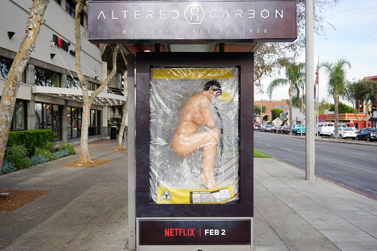 Diese Bushaltestelle hat Netflix 15 Millionen Impressionen eingebracht.