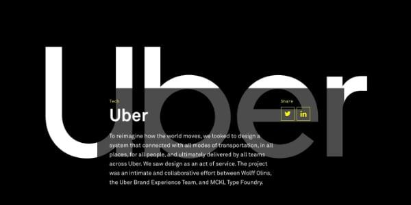 Das Projekt war eine intime, gemeinschaftliche Anstrengung zwischen Wolff Olins, des Uber Markenelebnis Teams und der MCKL Schriftenherstellung.