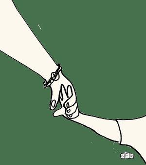 """""""Kein Händchen halten mehr für euch."""" Illustration: BEK"""