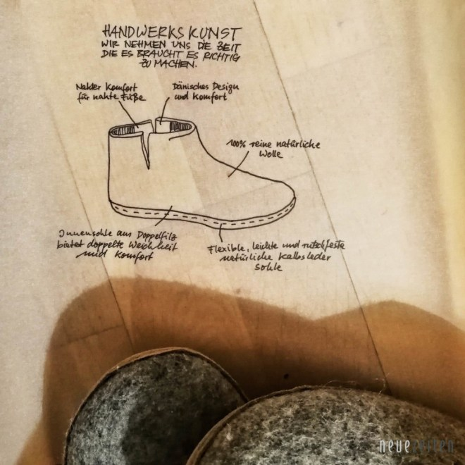 glerups Pantoffeln Skizze