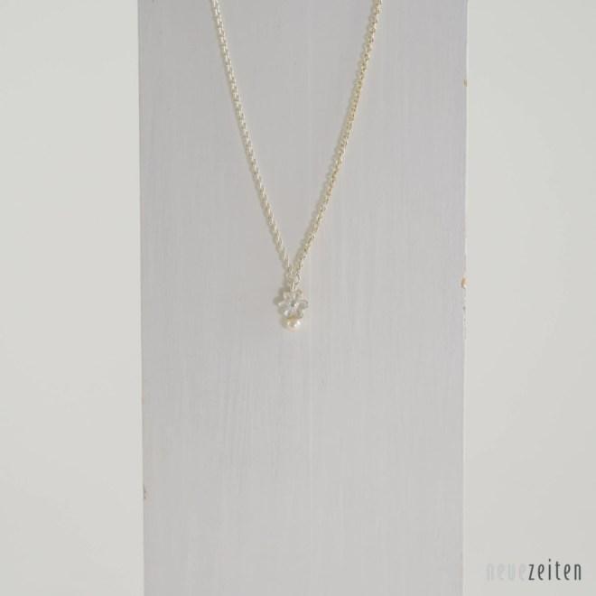 Produktbild Minima Kette - Blume Silber