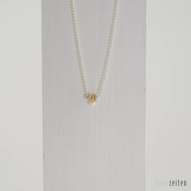 Produktbild Minimo - Kette Ringe mit Perle Silber Gold Silber