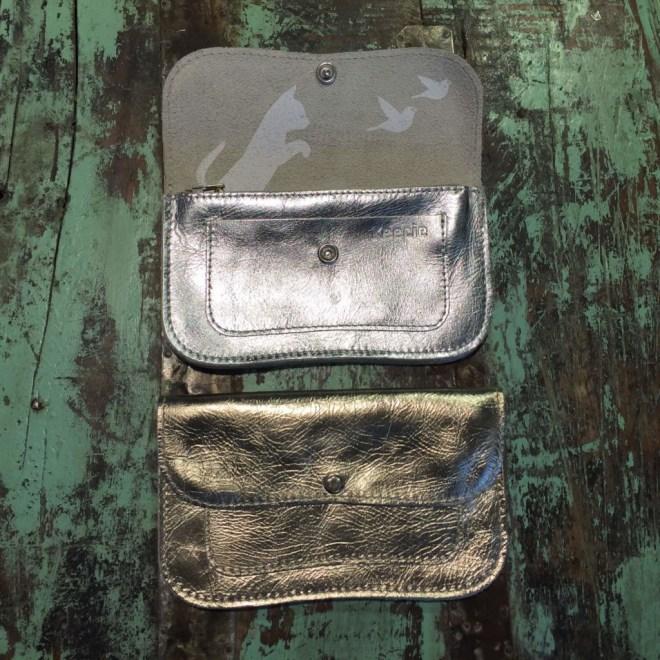 Produktbild - Portemonnaie - gross - Gold und Silber - offen