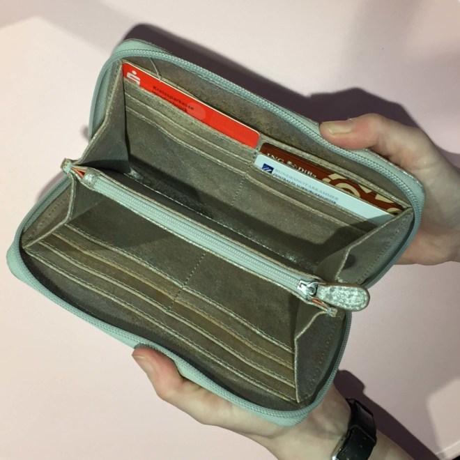 Produktbild - Portemonnaie Used Look - offen mit Karten