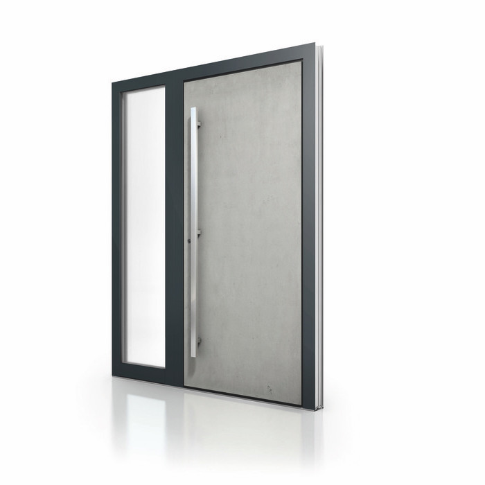 Aluminum Entrance Door AT 410 Glass Insert NeuFenster Windows and Doors