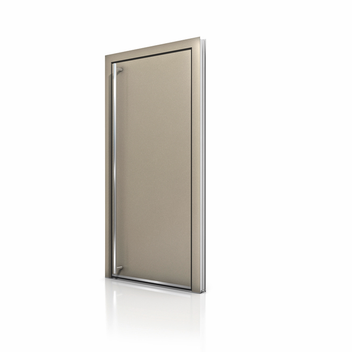 Beige Aluminum Entrance Door AT 410 NeuFenster Windows and Doors