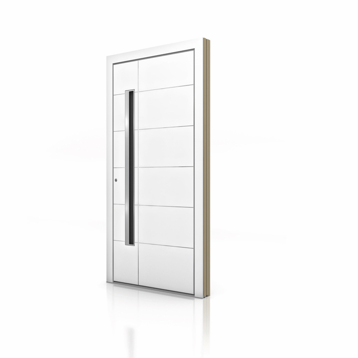 HT 400 White Aluminum Entrance Door