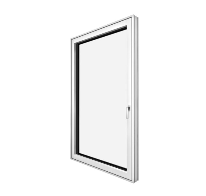 Side capture of the KF 405 Internorm window showing it's frame