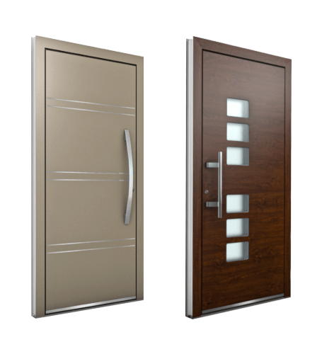 Custom Entrance Doors High End Modern Aluminum Wood Entry Doors