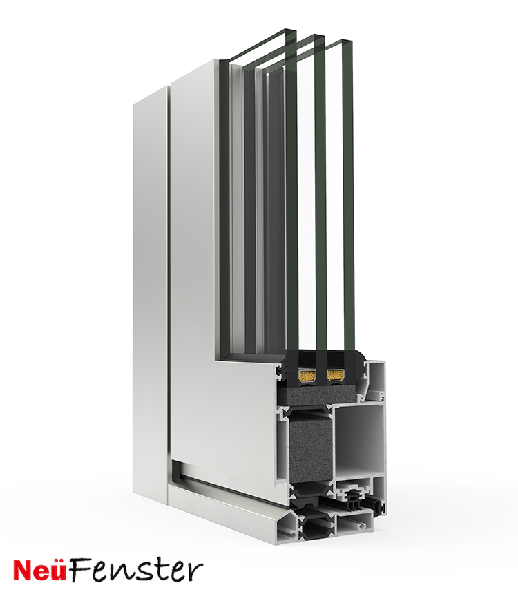 NF Millennium Plus 80 Commercial Aluminum Triple Glazed High Performance Entrance Doors
