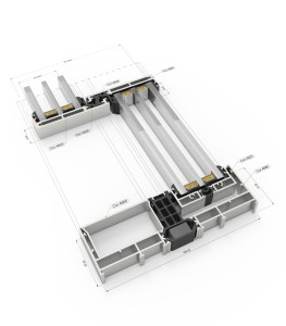 NF Vision Plus Sliding System - Sectional Details