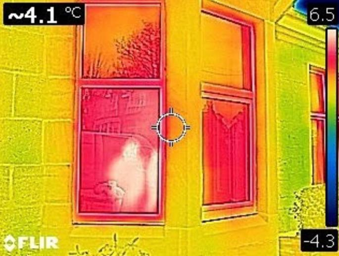 Thermal Imaging Before with Double Pane Windows Poor Window Performance