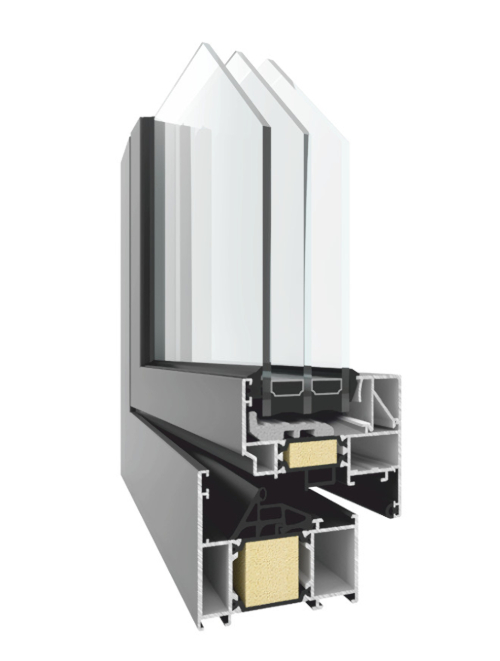 TM 74 HI Tilt and Turn Insulated Aluminum Window NeuFenster European Windows and Doors Toronto
