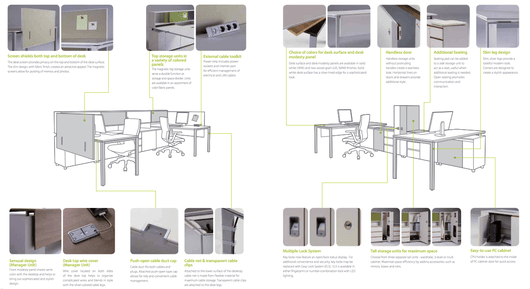 Muebles De Oficina Serie Next Generation FXI de SOSSmart Office Solutions