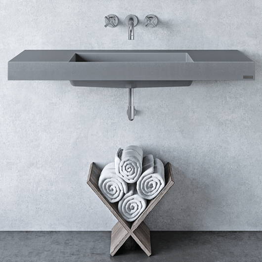 ada concrete wall mount sinks from
