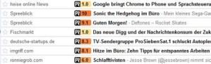 Infomanagement: Postranks Artikelfilter für GoogleReader jetzt auch mit Google Chrome