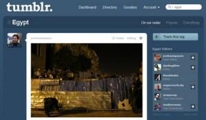 Medienwandel: Tumblrs moderierte Tag-Seite zu Vorgängen in Ägypten