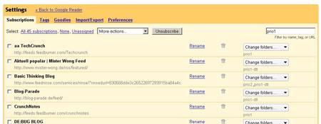 Googlereader-settings