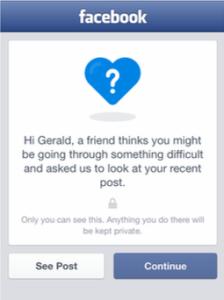 Facebook llança eina per revenir el suïcidi
