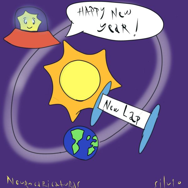 Scientific humor about new year