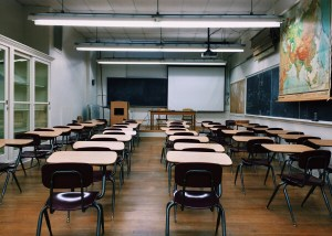 Photo of a school classroom