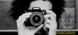 matthew Rushin with a camera