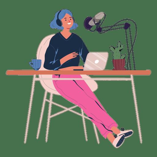 Neuroeducadora falando ao podcast