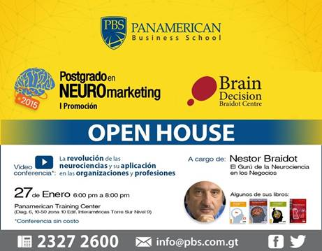 OPEN HOUSE –  Postgrado en Neuromarketing – PBS, 27 de enero 2015