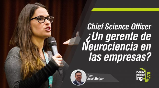Chief science officer un gerente de neurociencia