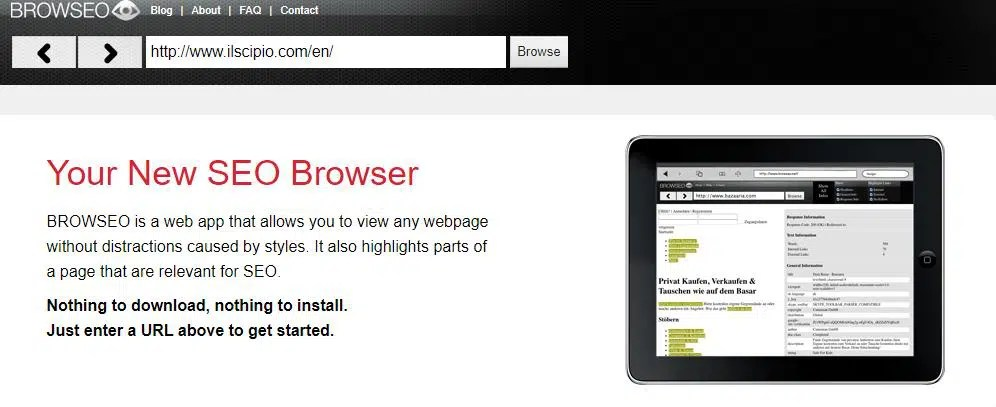 Your New SEO Browser- Browseo