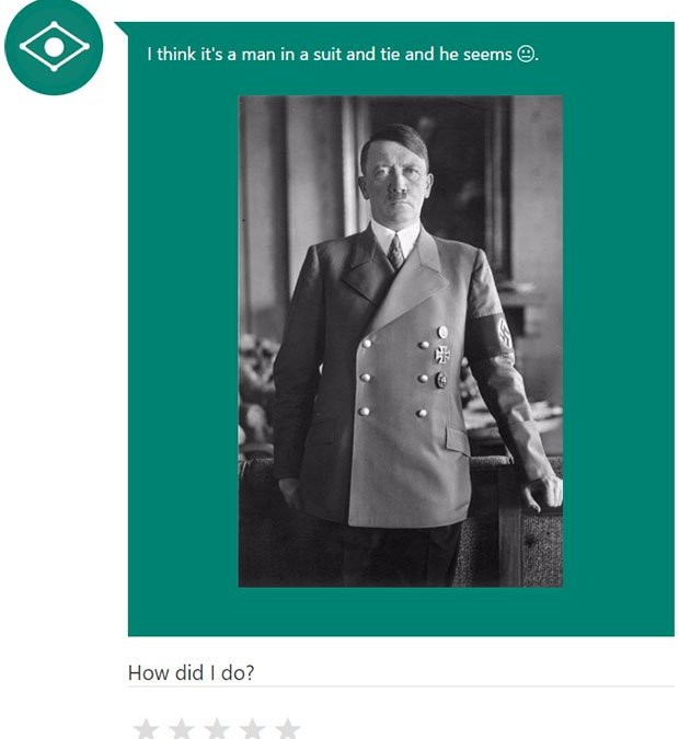 Microsoft Caption Bot Has Identity Issues, Gives Hitler The Cold Shoulder
