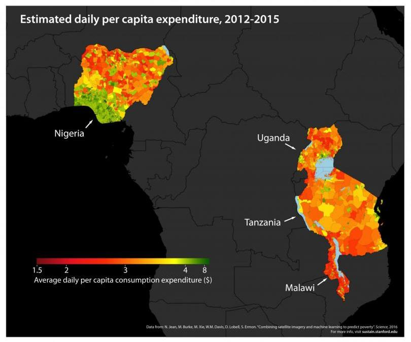 Satellite Images, Machine Learning Map Poverty