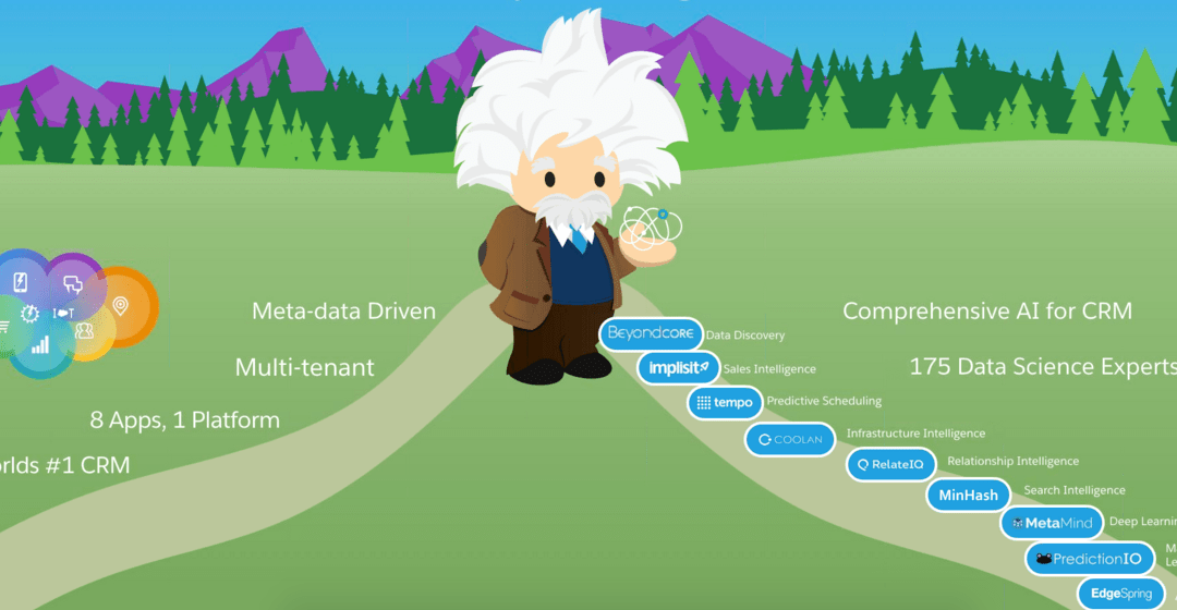 Salesforce Einstein deploys AI across the cloud suite