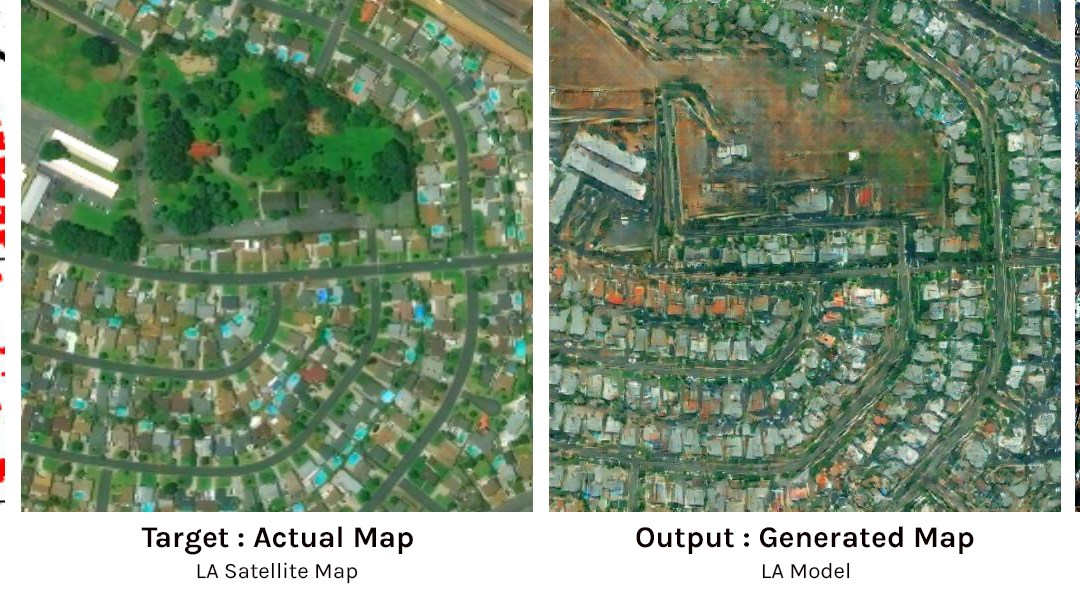 Artists Used Machine Learning to Turn Hand Drawn Maps Into Satellite Images