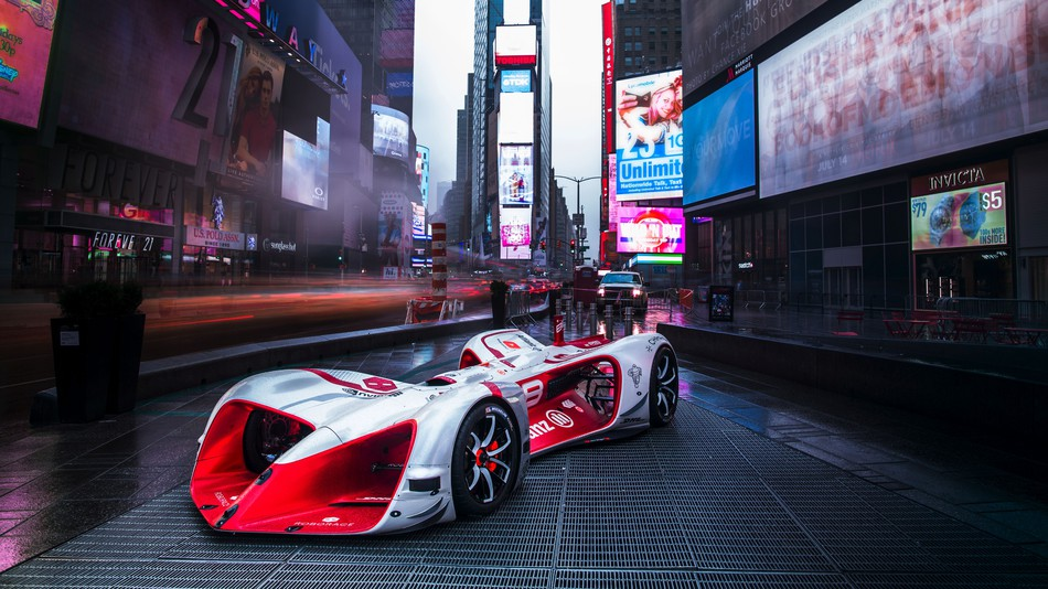This insane 200 mph electric race car is powered by artificial intelligence
