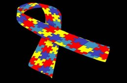 The image shows the autism jigsaw ribbon.