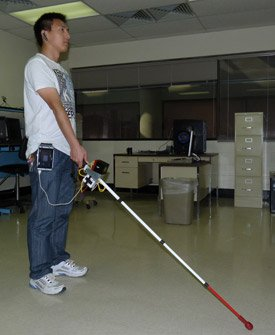 This is the co-robotic cane.