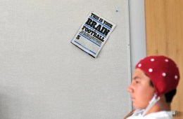 The image shows a person undergoing a concussion evaluation with eeg.