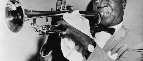 This is a picture of Louis Armstrong.