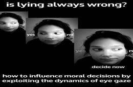 Images shows a girl in three different stills. In each, her eyes are facing a different direction.