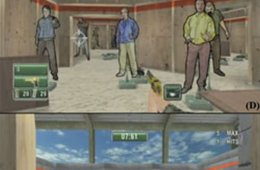 This image shows stills from a first person shooter game.
