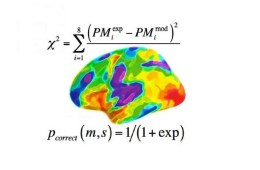 The image shows a colorful brain with a math formula under it.